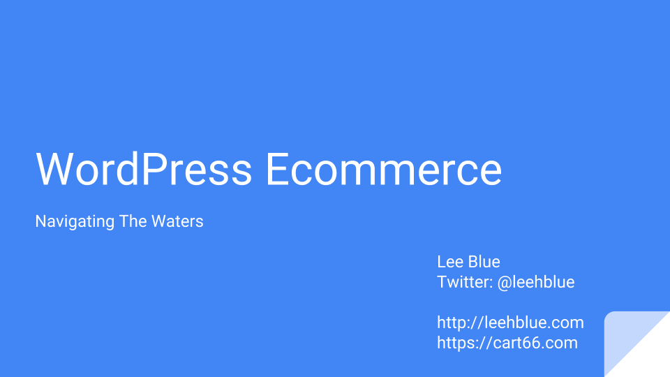 WordPress Ecommerce - Navigating The Waters